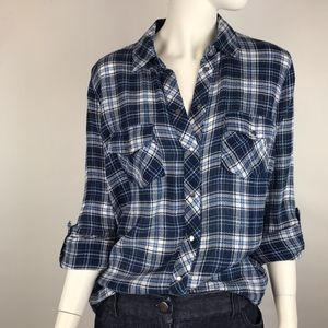 Kut From The Kloth Plaid Snap Shirt